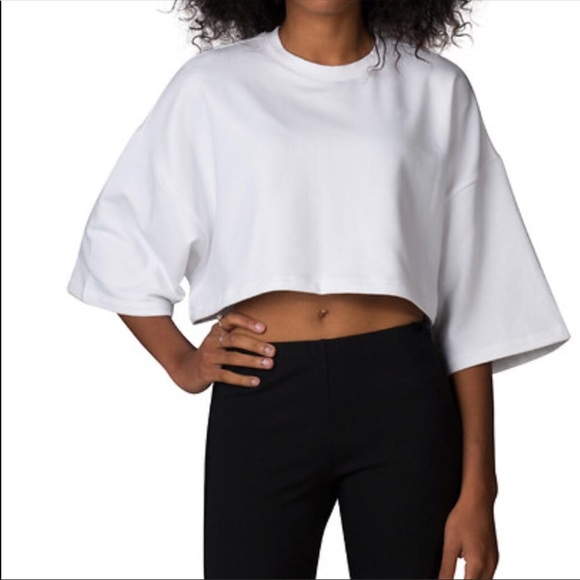 Fenty Puma By Rihanna Cropped Crew Neck T Shirt Sweatshirt